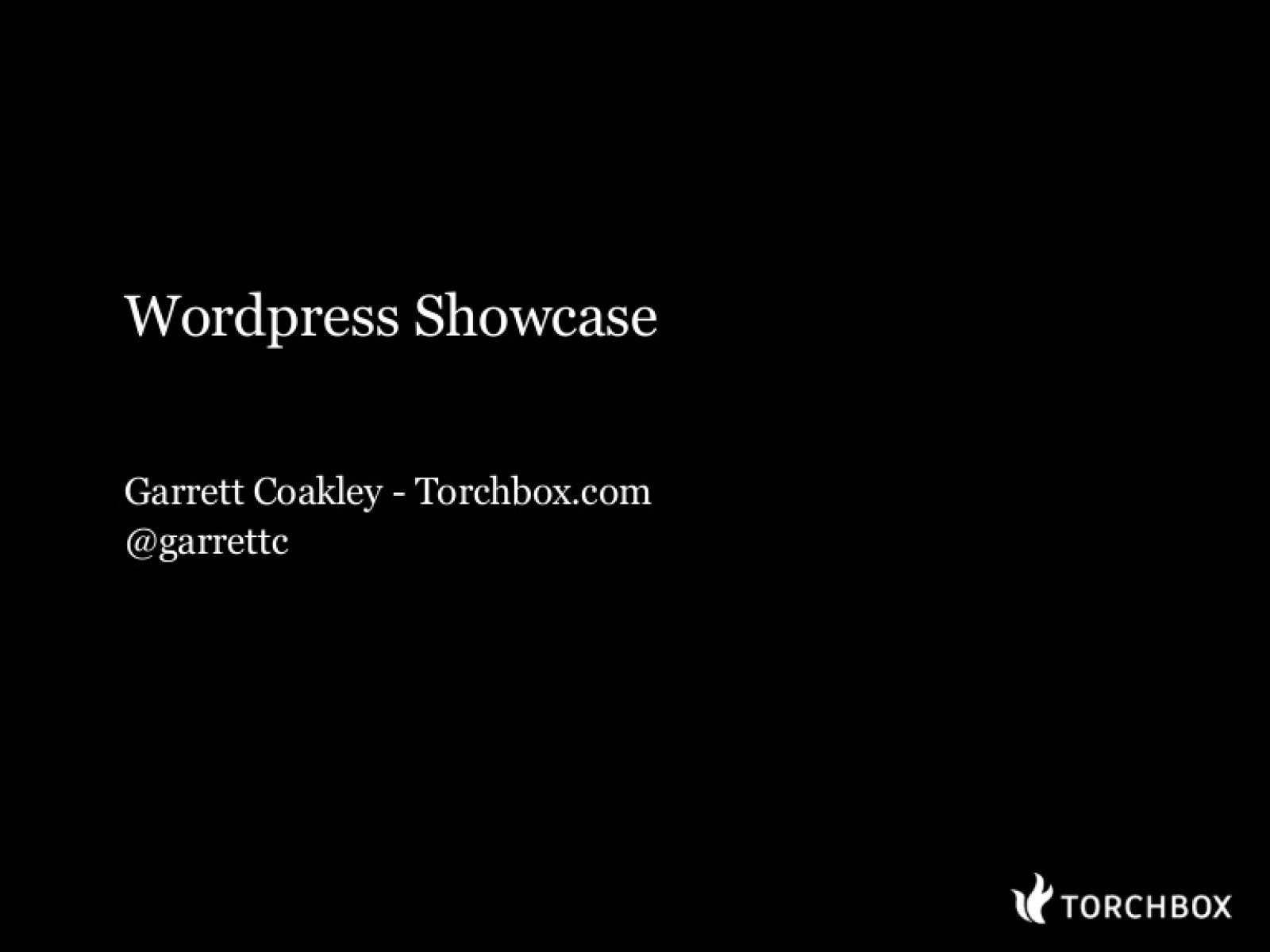 Wordpress Showcase
