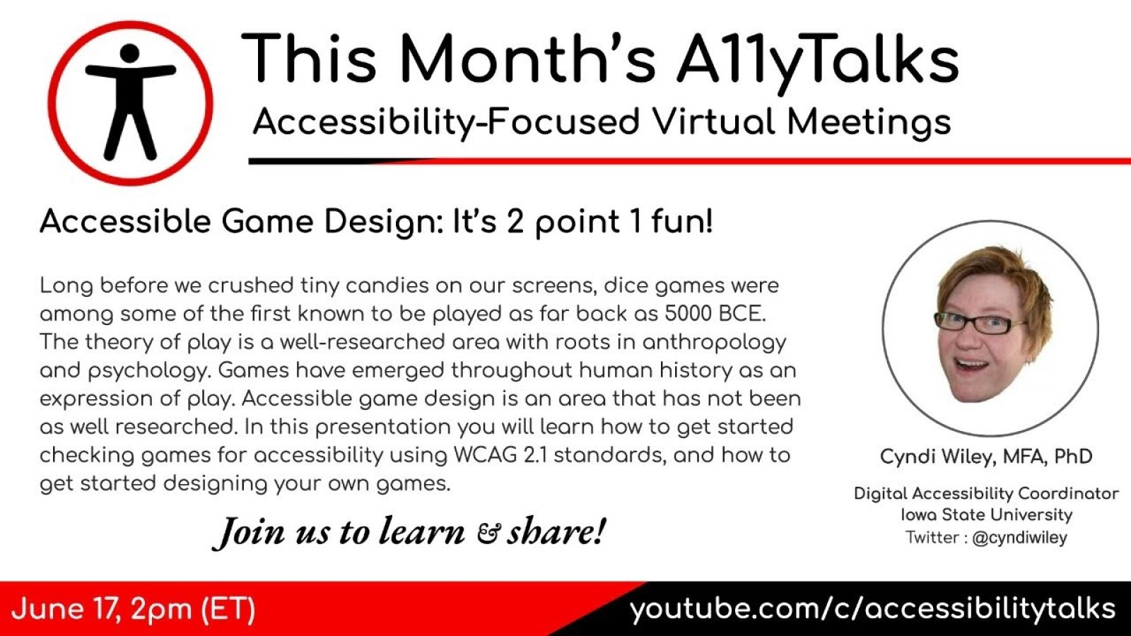 Accessible Game Design: 2 point 1 fun!