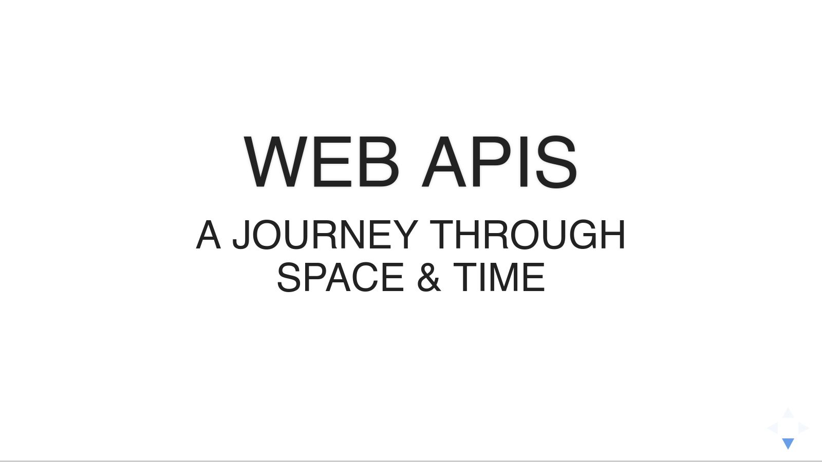 A Journey Through Web API Space & Time