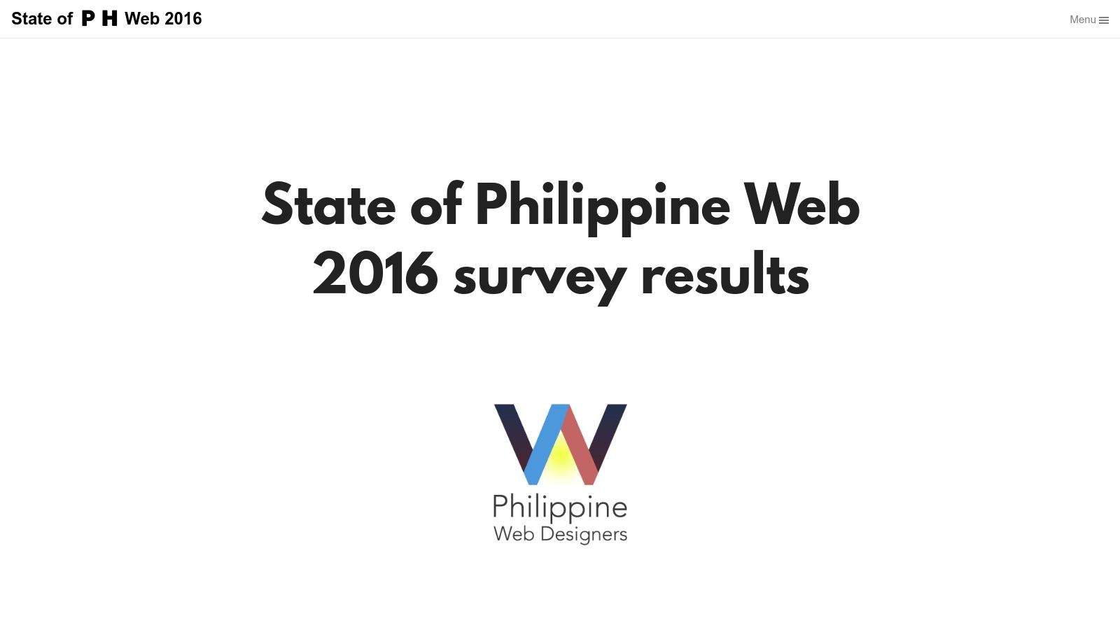 State of the Philippine Web Survey 2016 Results