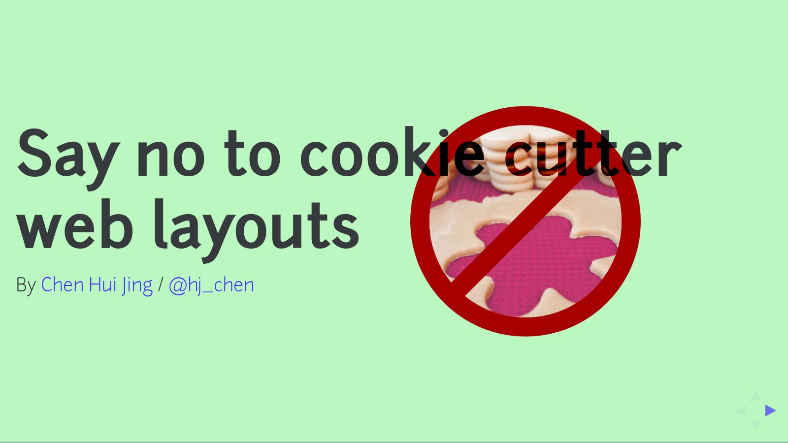 Say no to cookie cutter web layouts