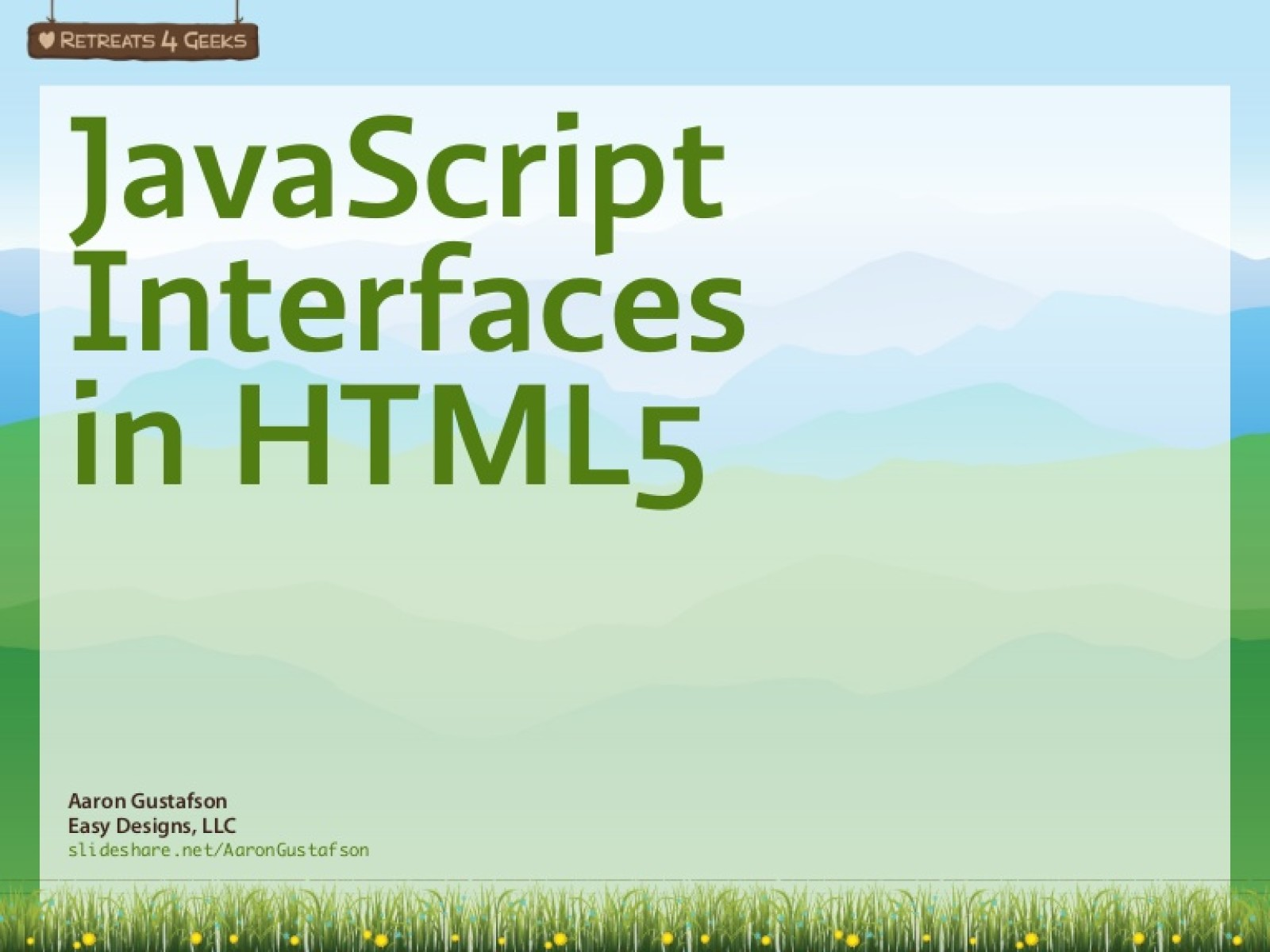 JavaScript Interfaces in HTML5 [Workshop]
