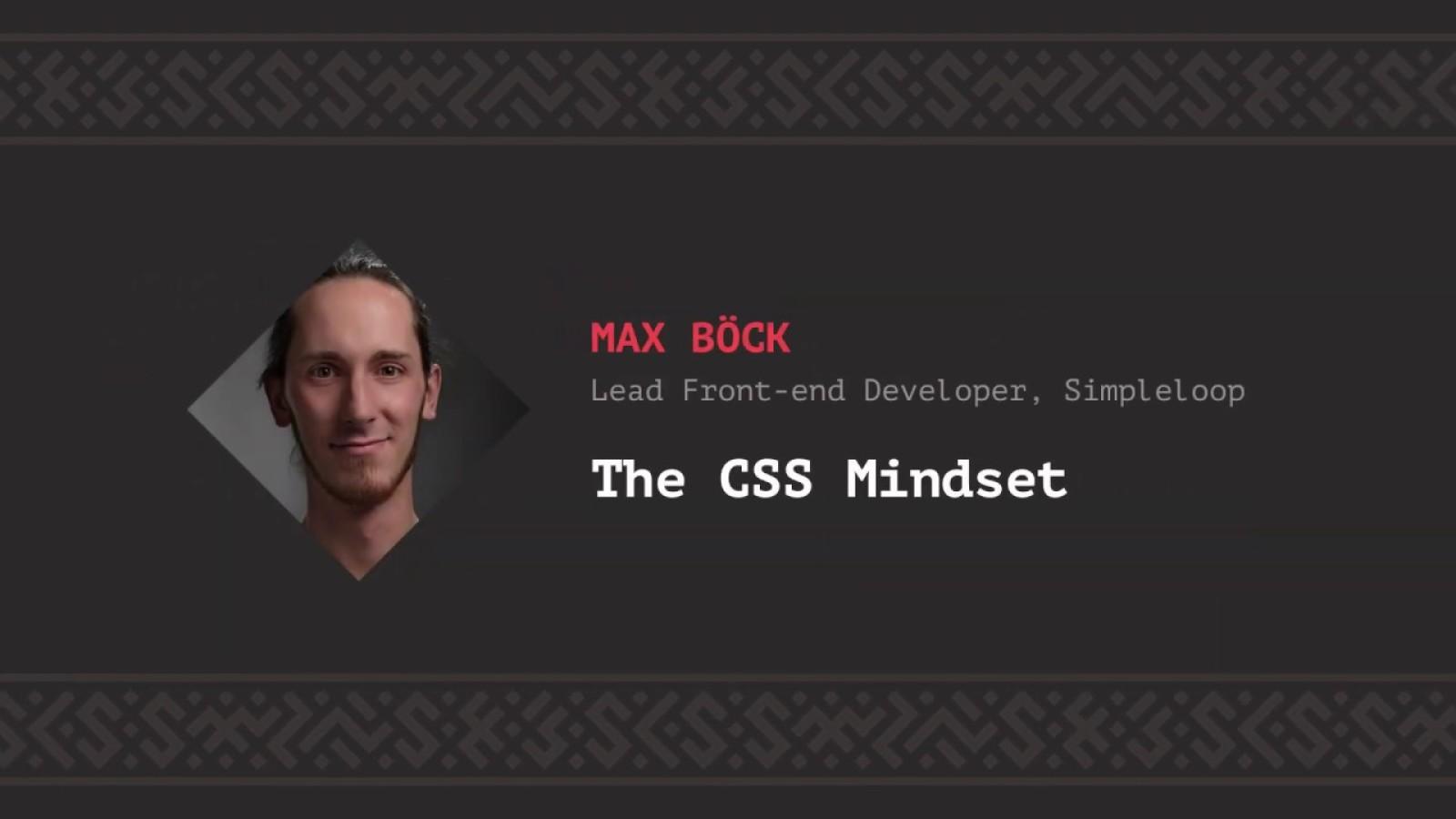 The CSS Mindset