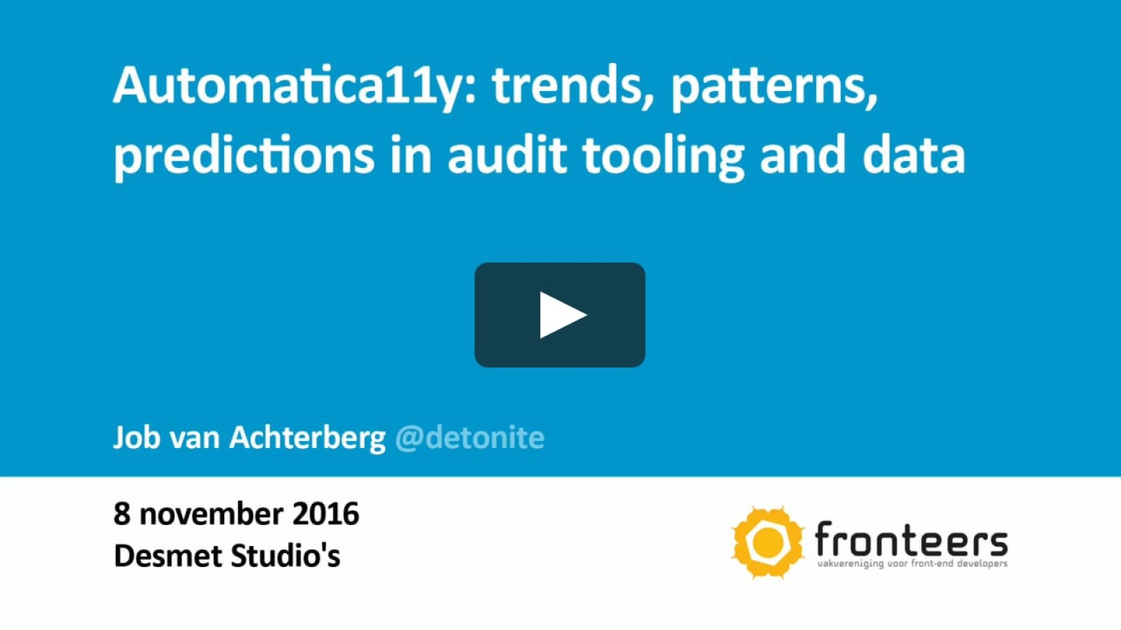 Automatica11y: trends, patterns, predictions in audit tooling and data
