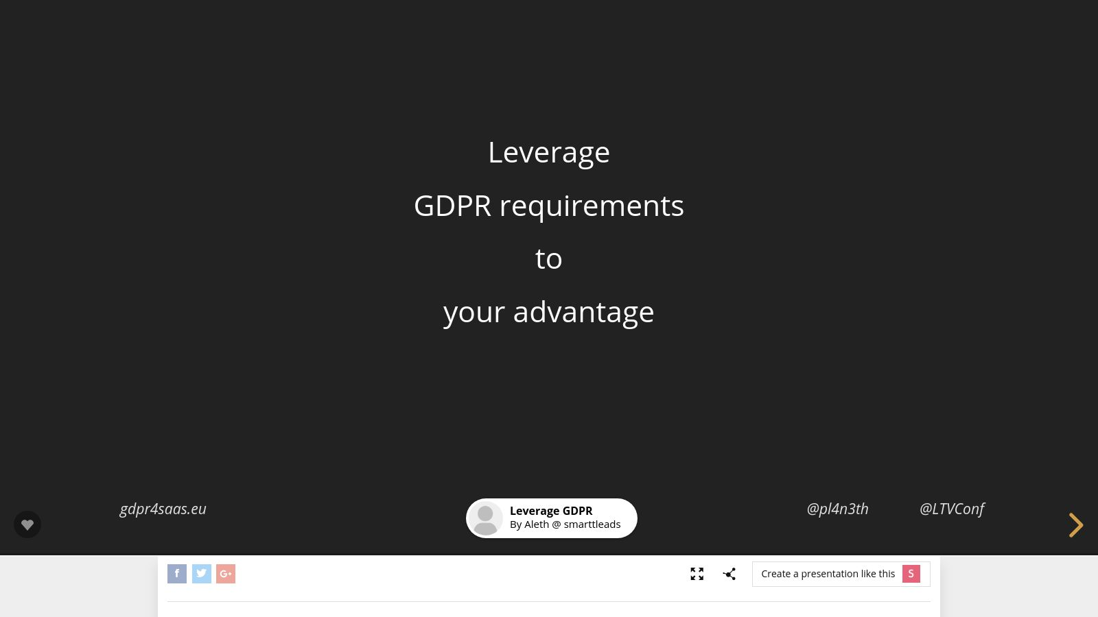 Leverage  GDPR requirements  to  your advantage