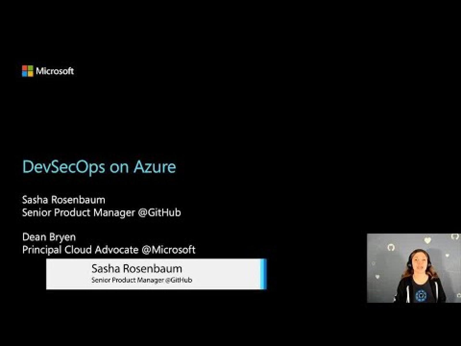 DevSecOps on Azure - MSBuild 2020