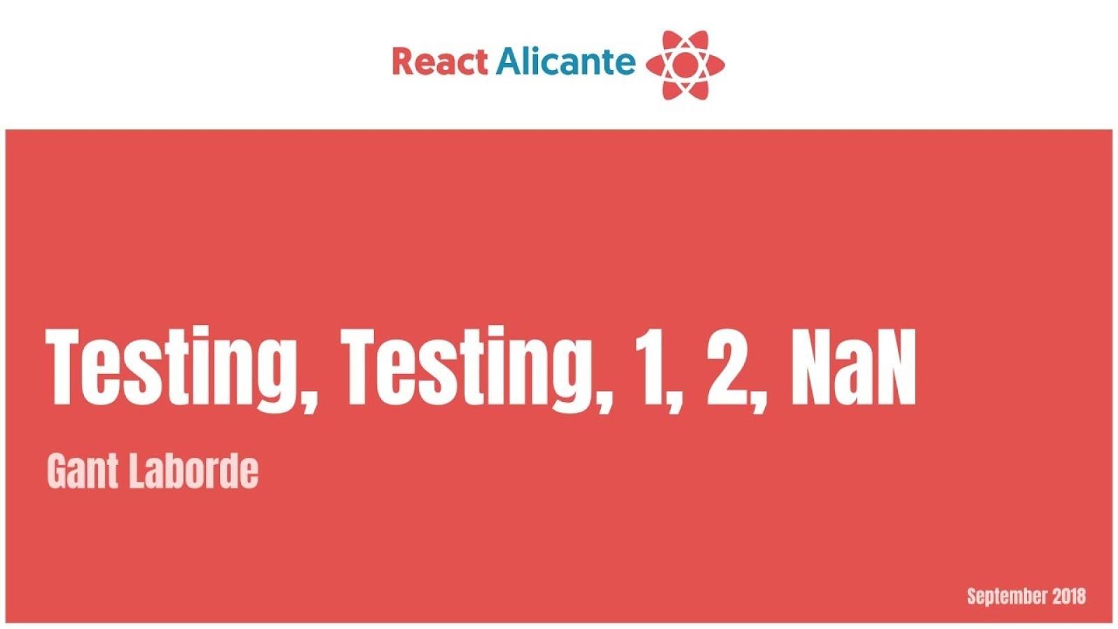 Testing..., Testing..., 1, 2, NaN