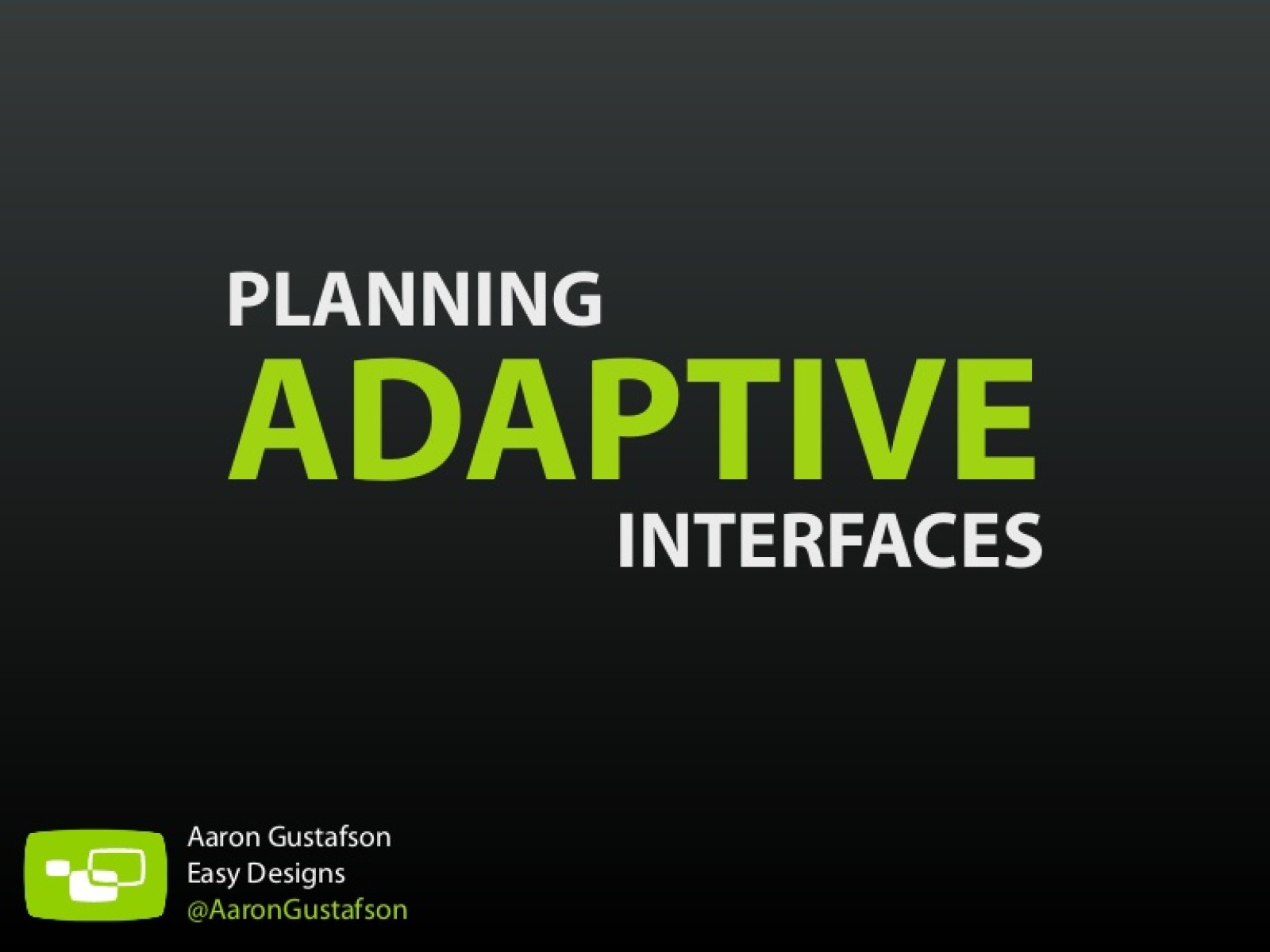 Planning Adaptive Interfaces [Workshop]