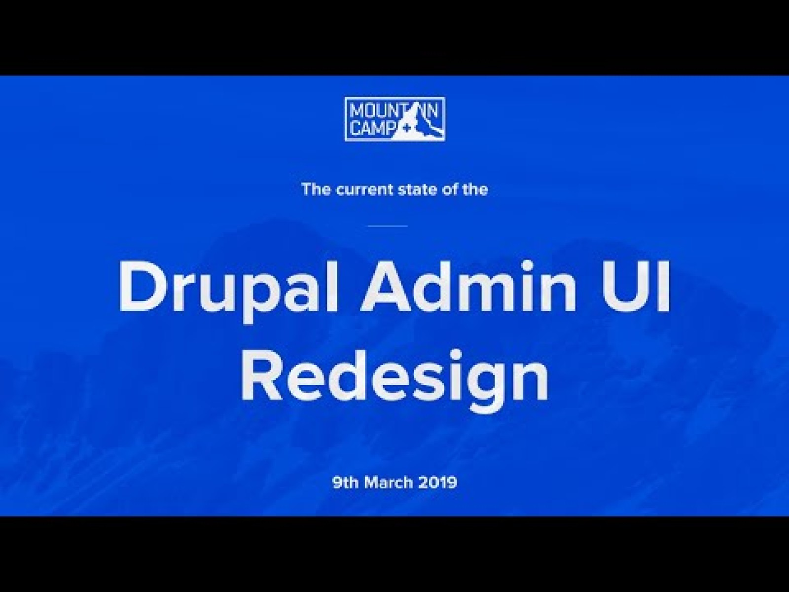 Current State of the Drupal Admin UI Redesign