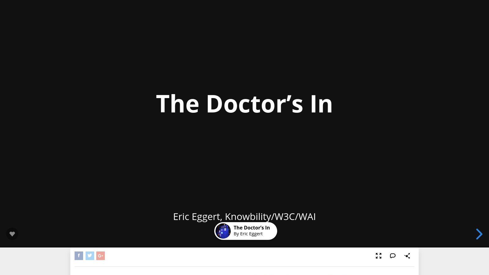 The Doctor's In 1