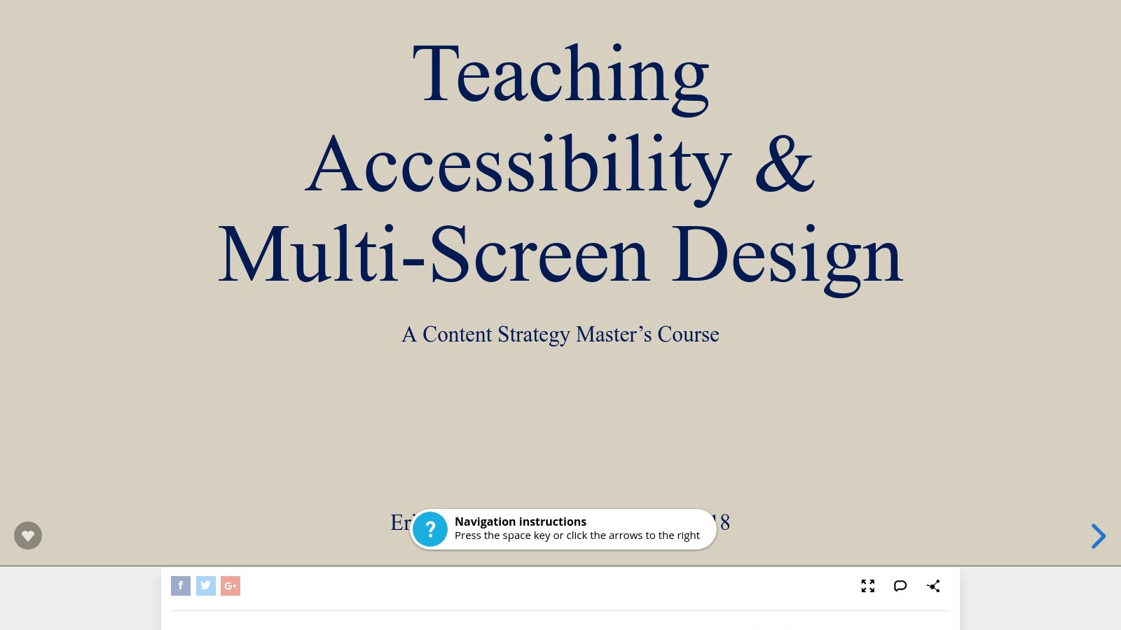 Teaching Accessibility & Multi-Screen Design – A Content Strategy Master's Course