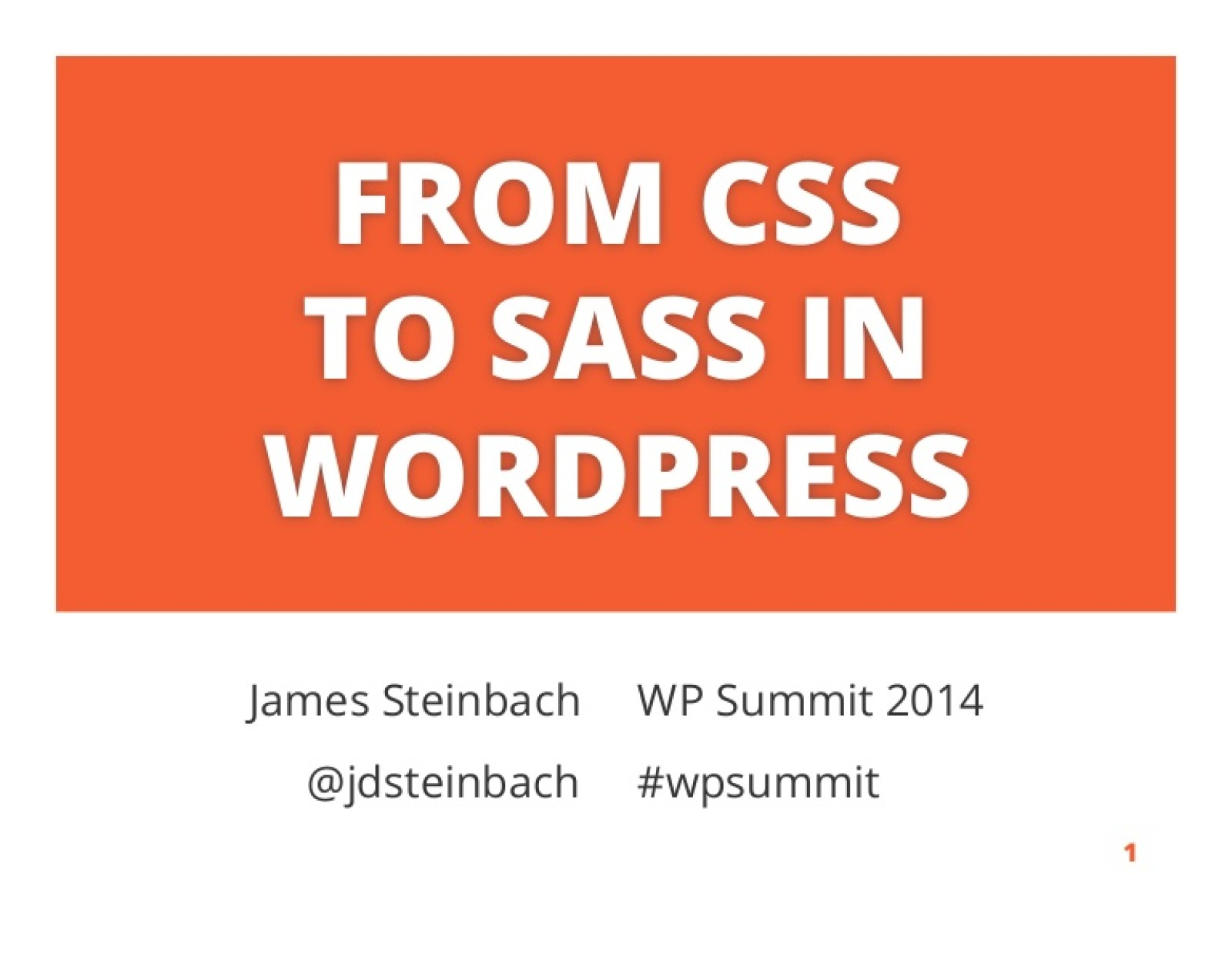 From CSS to Sass in WordPress