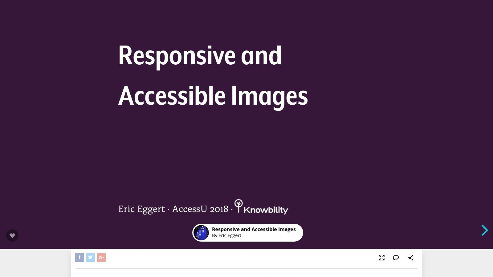 Responsive and Accessible Images