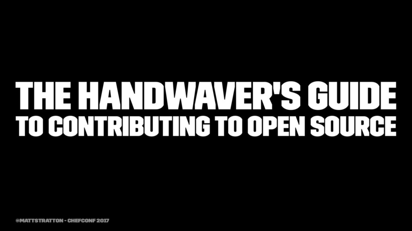 The Handwaver's Guide to Contributing To Open Source