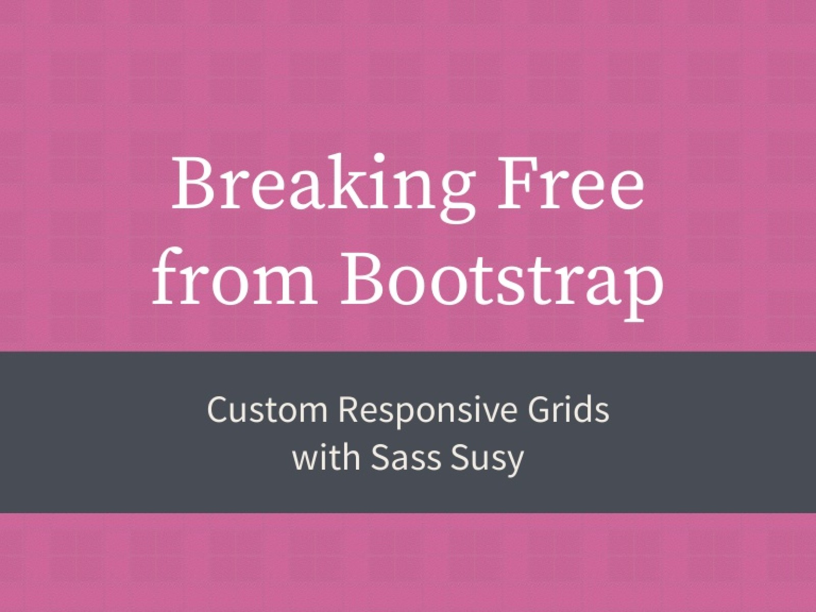 Breaking Free from Bootstrap
