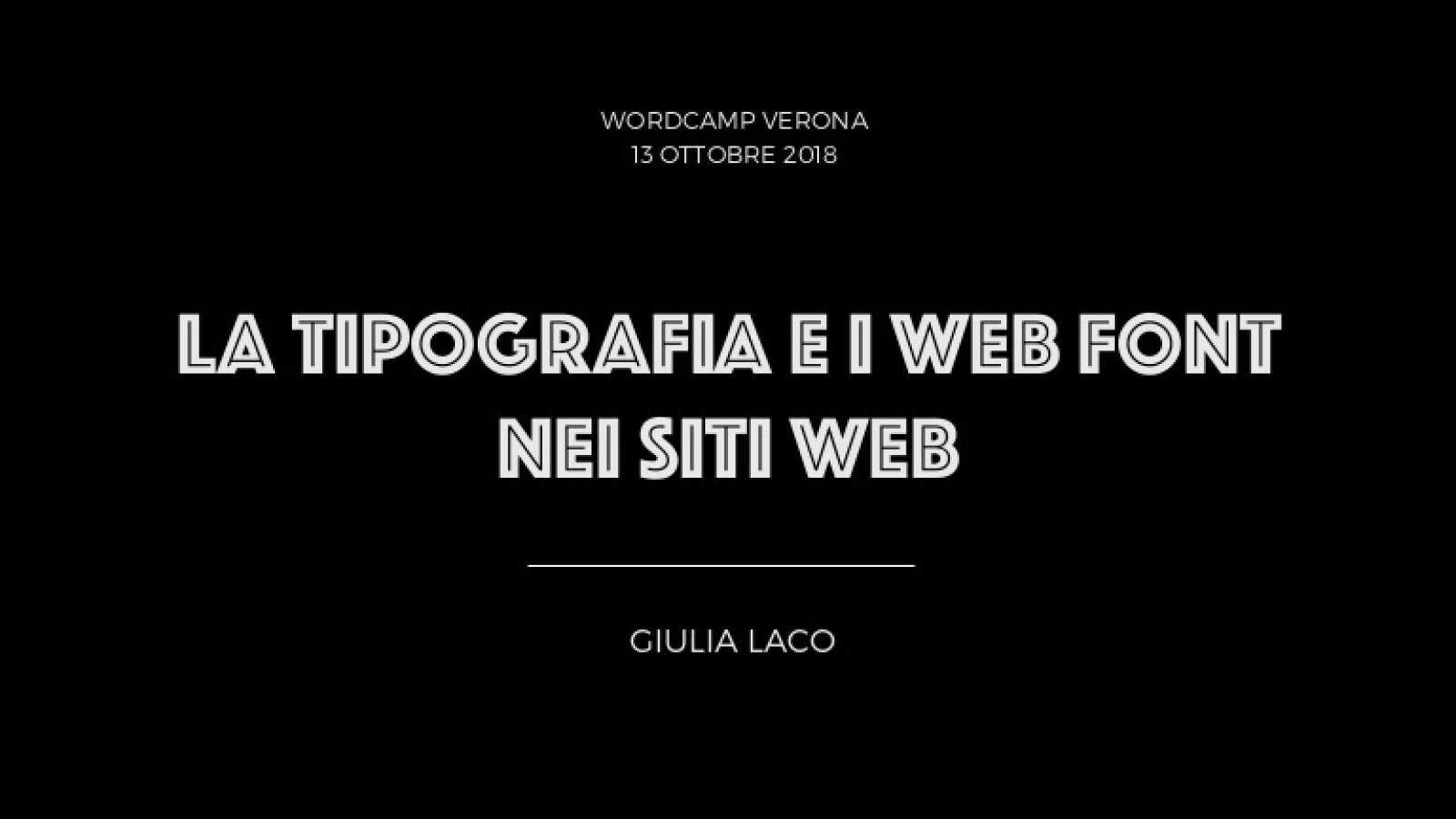 La tipografia e i web font nei siti web