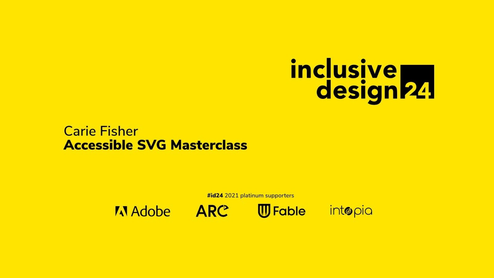 Accessible SVG Masterclass